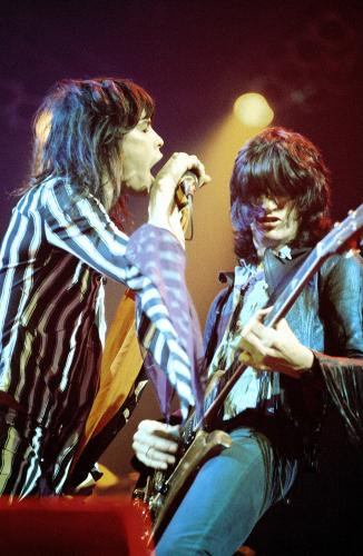 "CHIP AWAY AT THE STONES: Initially dismissed as American rip-offs of Mick and Keith, Aerosmith carved their own identity and good fortune with a string of landmark albums including ""Get Your Wings,"" ""Toys in the Attic"" and ""Rocks."""
