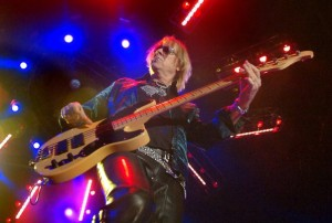 BASS COMMANDER: After years of self abuse and a recent battle with throat cancer, Tom Hamilton is still in the saddle as Aerosmith's rock-solid bass player.