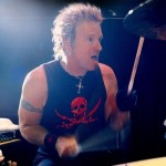 DRUM UNTIL YOUR DREAMS COME TRUE: Joey Kramer and his Aerosmith band mates have sold more than 150 million albums since leaving their drug- and roach-infested apartment at 1325 Commonwealth Avenue in Boston during the early 1970s. (photo by Ross Halfin)
