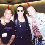 BROTHERS AND SISTER: Chris Wilson and t.Odd flank Twisted Sister frontman Dee Snider