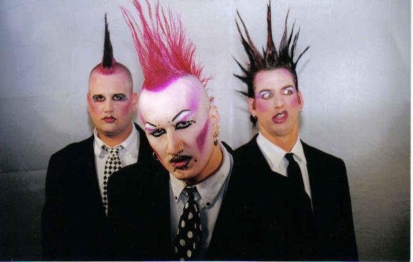 TWISTED MISTERS: From left, Chris Wilson, t.Odd and Stacey Starr