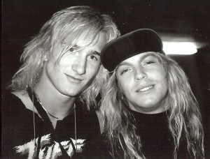 TALK SHITTY TO ME: A pre-mohawk t.Odd with Poison singer Bret Michaels in 1988. A few years later, Bret chased some shit-talkers down the street on the rare occasion that t.Odd was willing to let it slide.