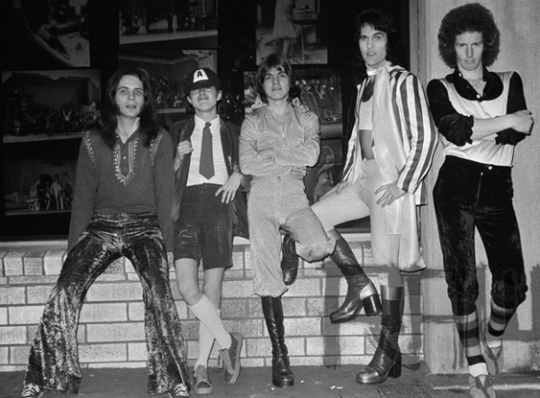 AC/DC circa '74: These boots were made for rockin'.