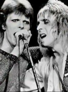 Glam 'Lam': Ronson with David Bowie
