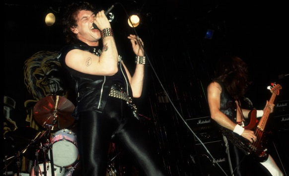 WRATHCHILD: Paul Di'Anno and bassist Steve Harris performing live circa 1981. Following Di'Anno's departure less than a year later, Iron Maiden would soon climb to international superstardom and will be forever remembered as one of the most successful and influential heavy metal bands of all time.