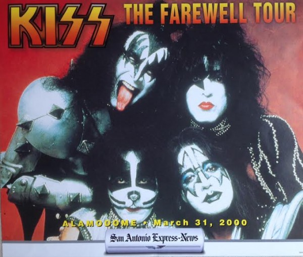 KISS XXXXXX: This special edition San Antonio Express-News rack card was featured at the the Alamodome to promote my Gene Simmons interview which was on sale as a souvenir at the Alamodome concert.
