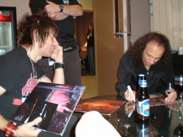 Me and Dio signing