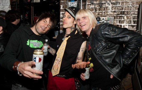 FLASH BOYS: Metal Dave, Nick Curran and Frankie Nowhere at Emo's, 2011 (Photo by @Jerry Milton)