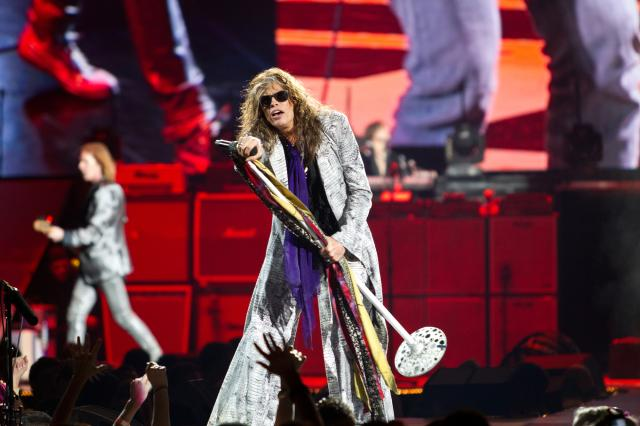 Four decades into a career of classic rock hits and toxic drama, Aerosmith arrived victorious on Friday during Formula One weekend at the Frank Erwin Center in Austin, Texas. (photos by Josh Rasmussen)