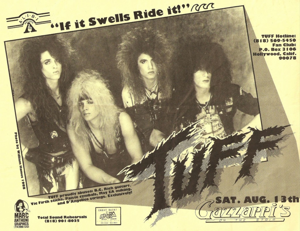 TUFF GIG: An early flyer with Todd pictured second from right
