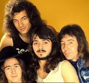 XXXXX: A young Brian Johnson, upper left, with his band Geordie just prior to his AC/DC audition.