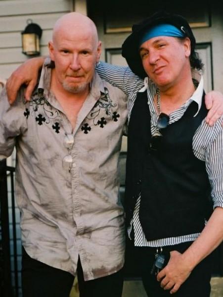 Boys-n-Dolls: Cheetah with longtime pal and sometimes band mate, Sylvain Sylvain