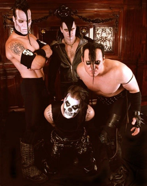 DIGGING UP GRAVES: The 'American Psycho' lineup was, left to right, Only, new singer Michale Graves, guitarist Doyle and drummer Dr. Chud.