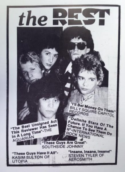 YOUNG GUN: A flyer advertising one of Bongiovi's early bands. Young John is lower left.
